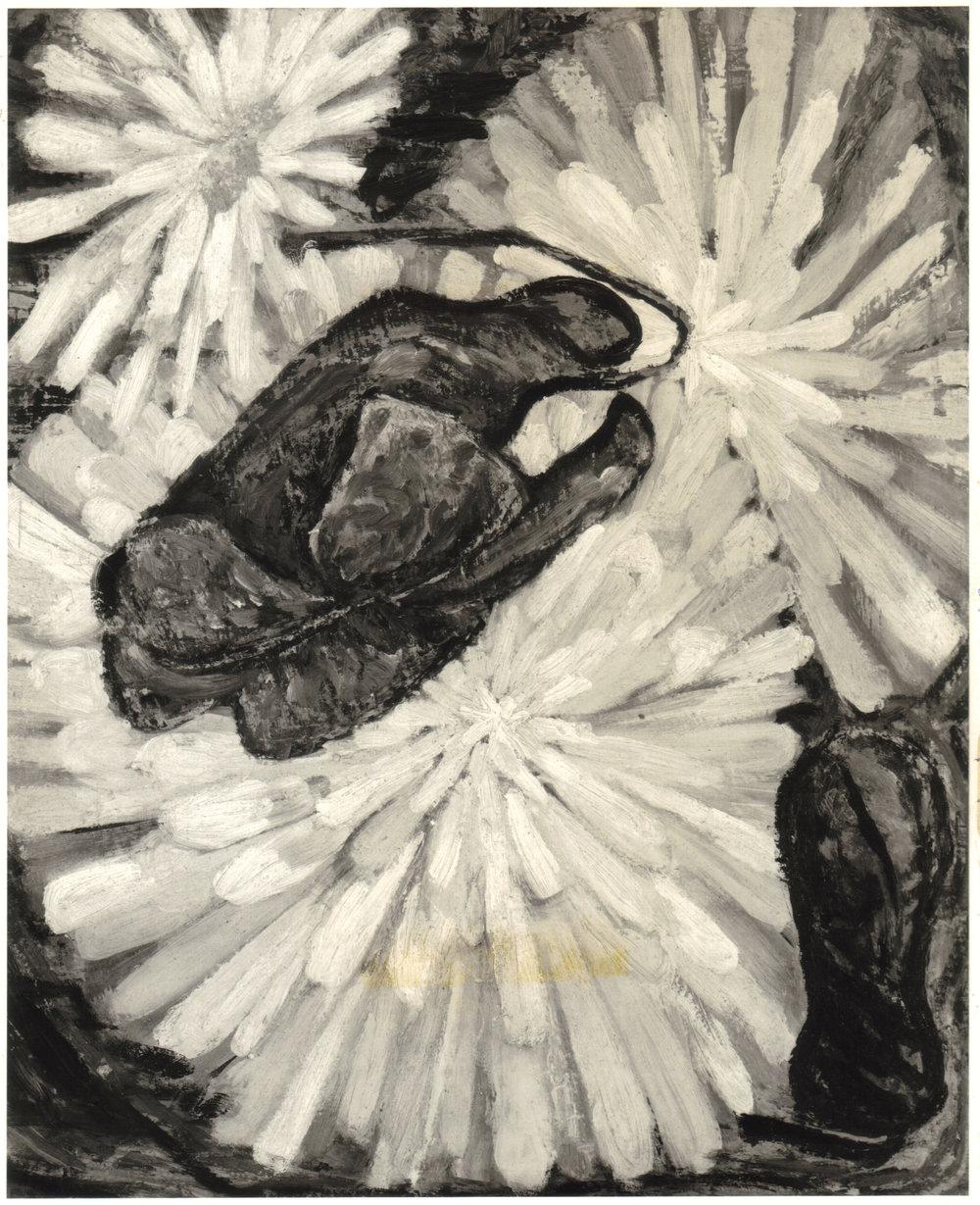 45. 1948, Daisy and Violet, Casein on masonite, 23x28, 1948.jpg