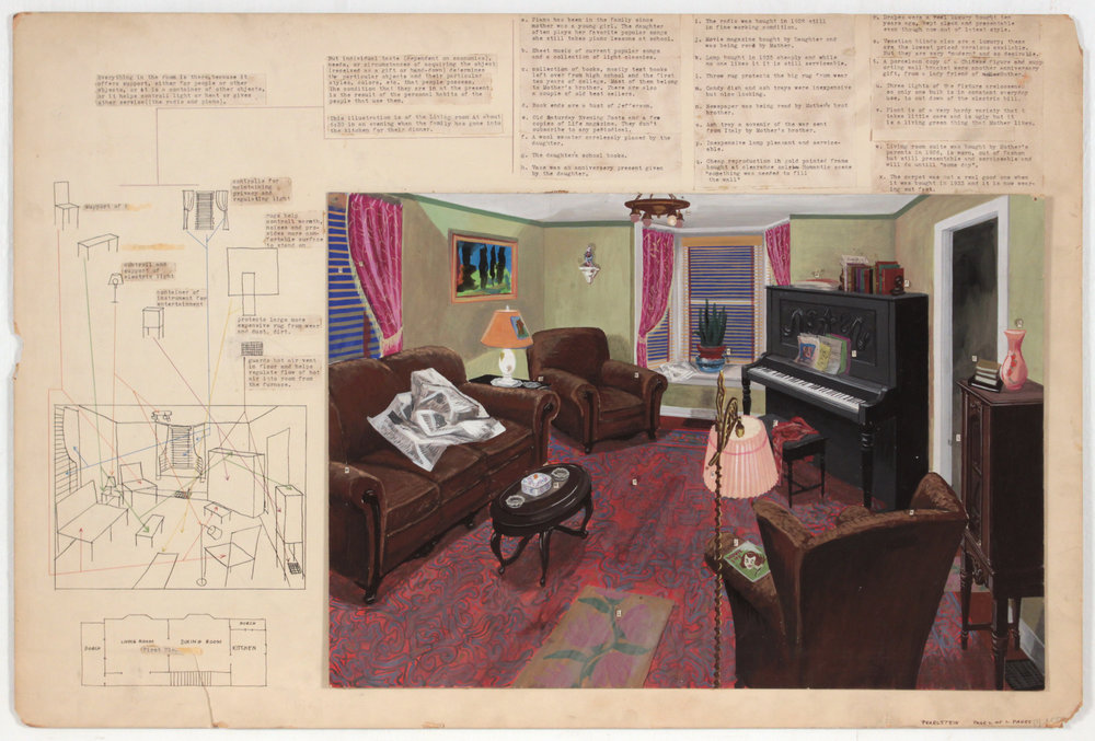 2. 1948-49, Image 56, Student Work (Human Characteristics as Revealed by Possessions _2 of 2 Pages), Mixed Media Collage on Board, 20.125x30.125, PPS 1405.JPG