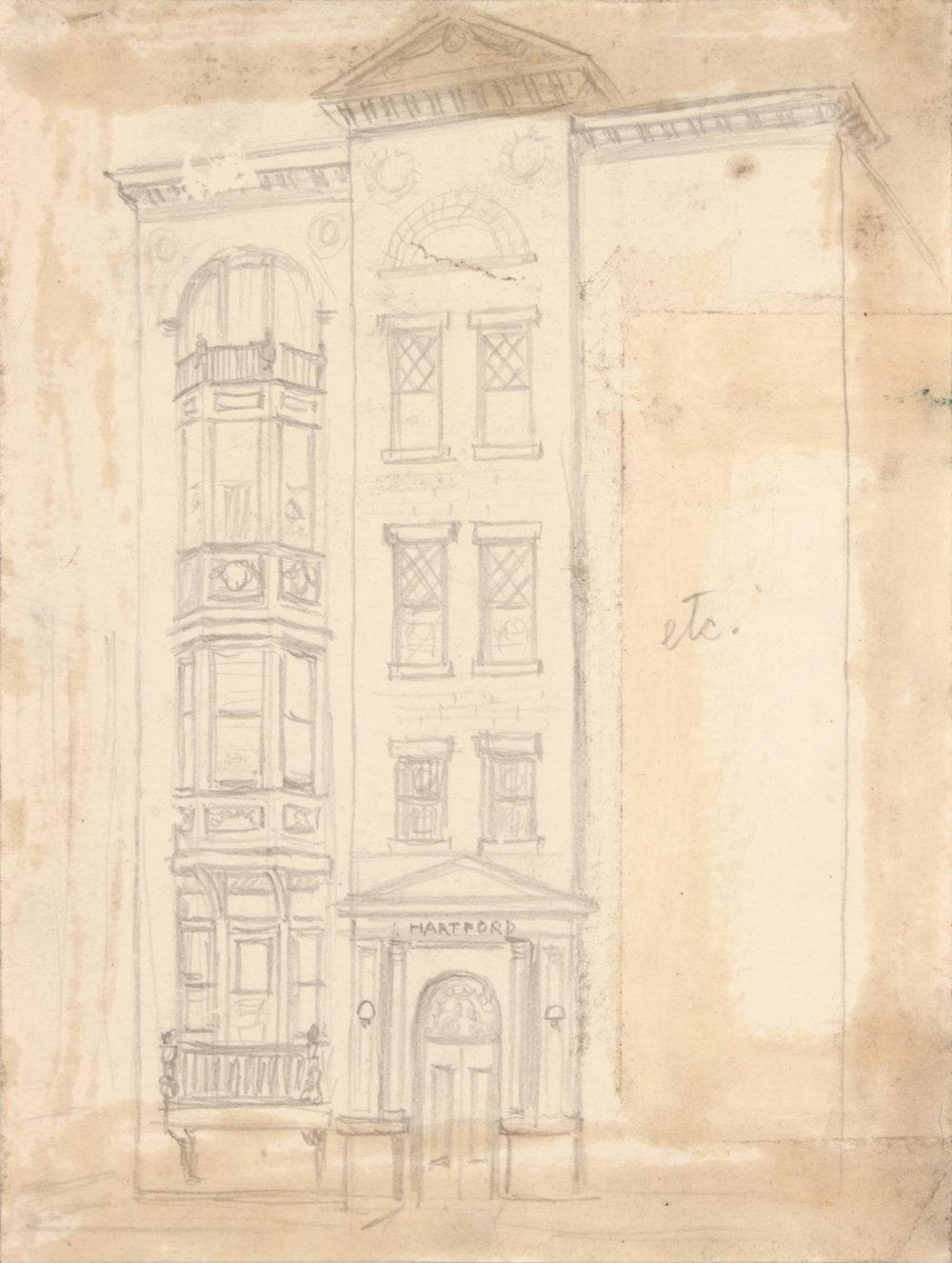 9. 1948-49, Hartford, etc, Graphite on Paper, 10.25x7.6875, PPS 1444.JPG
