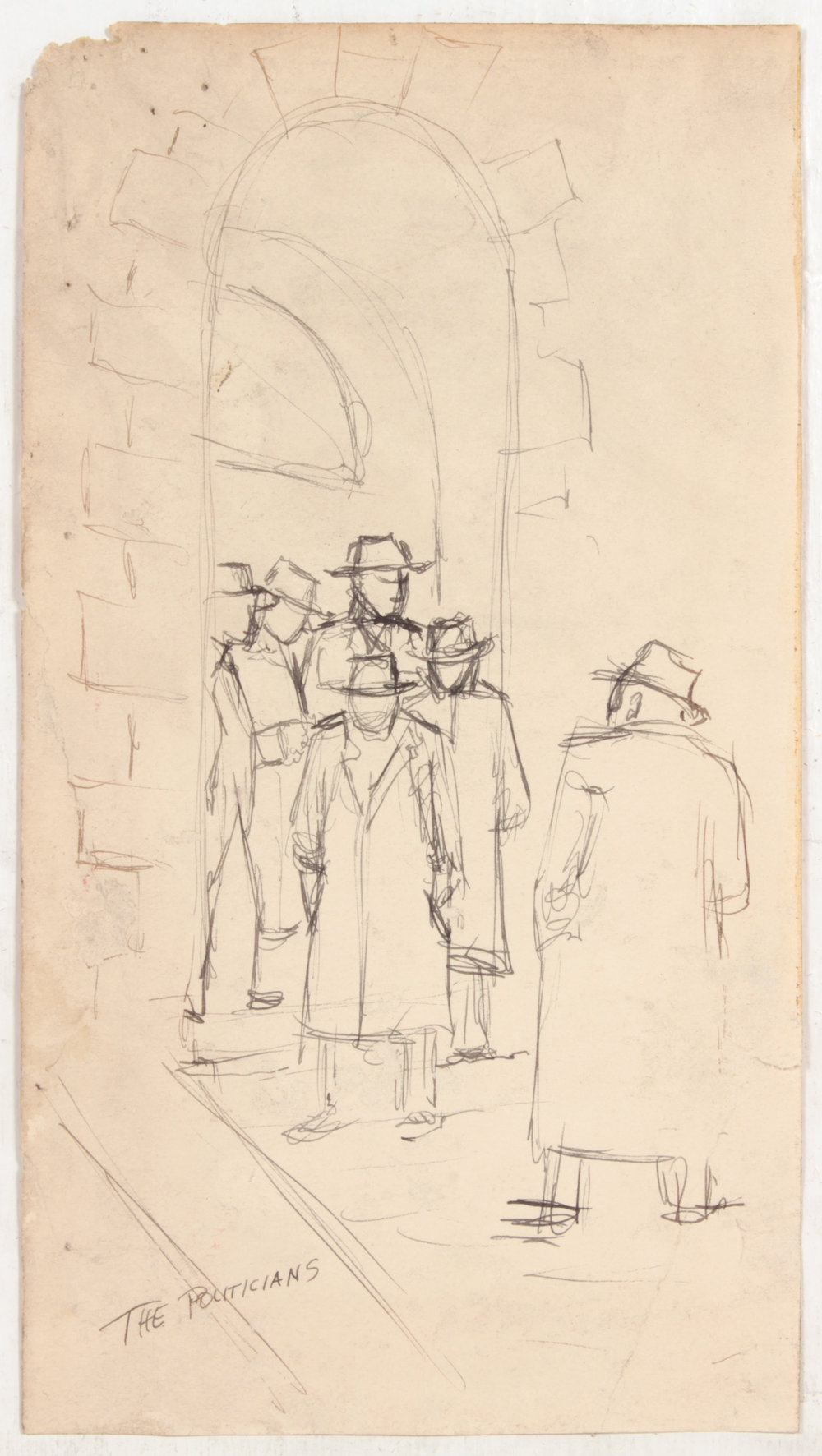 19. 1948-49, The Politicians, Pen and Ink on Paper, 10.50x5.75, PPS 1443.JPG
