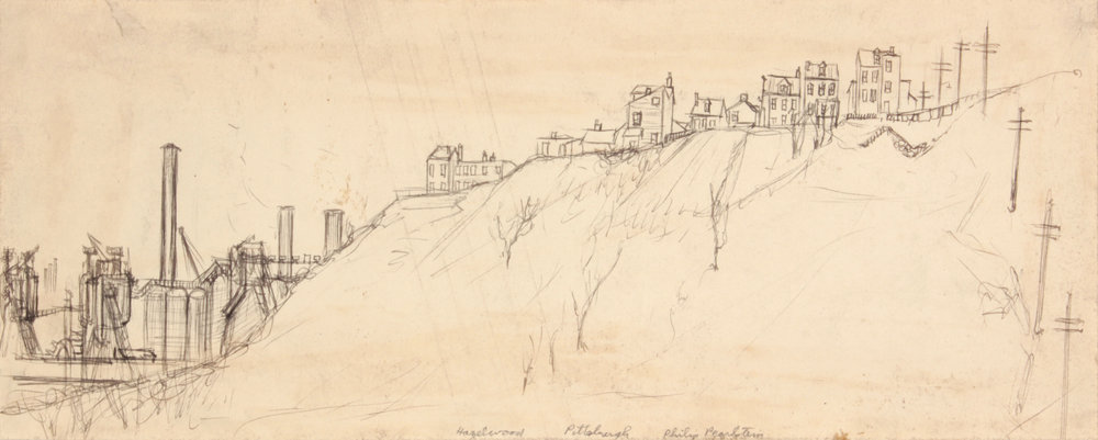 21. 1948-49, Hazelwood, PIttsburgh, Graphite and Pen and Ink on Paper, 5.4375x13.625, PPS 488.JPG