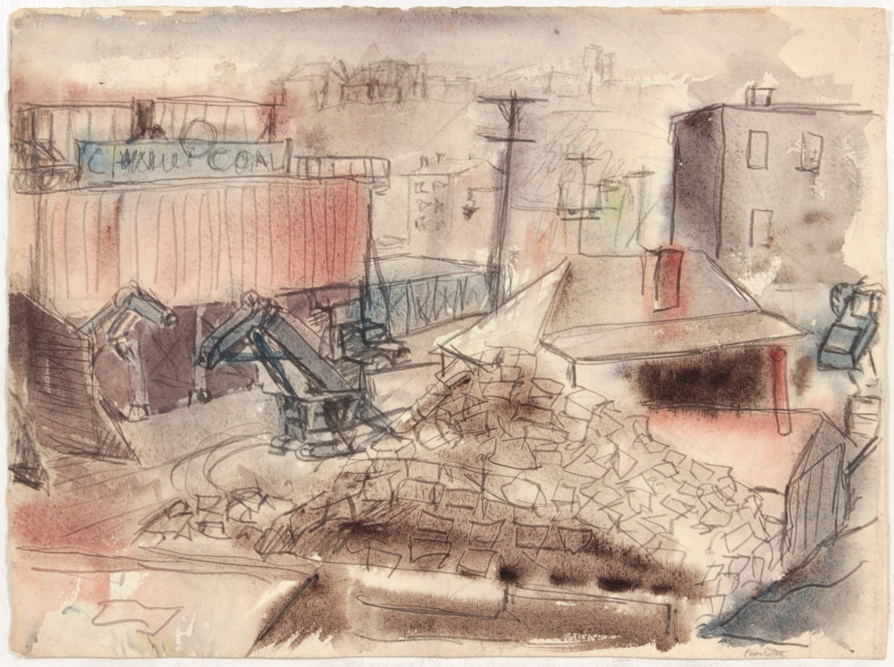 22. 1948-49, NT (Pittsburgh Coal), Graphite and Wash on paper, 12x16.25, PPS 1452.JPG