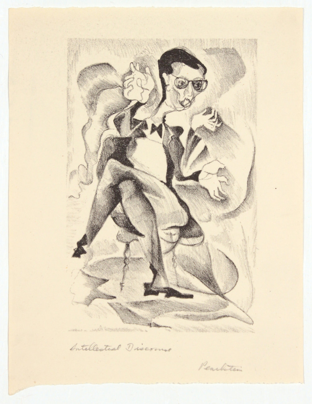 1. 1947-48 c, Collection of Early Prints Done at Carnegie Tech, Intellectual Discourse, Lithograph, 7.50x 6, PPS 1310.JPG