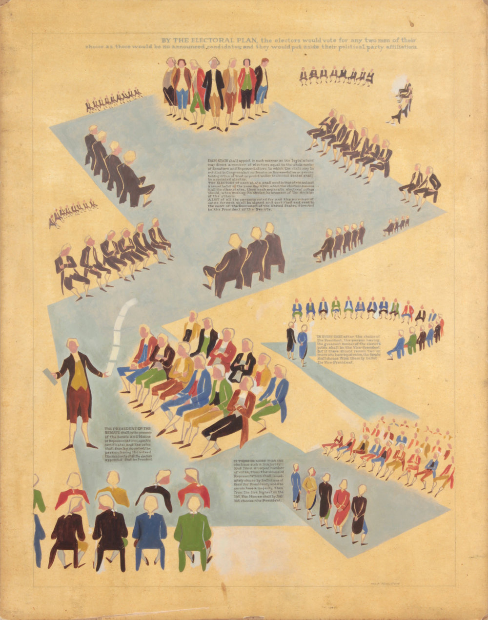 4. 1940's c, NT (Framers of the Constitution 3), Casein on Paper, 23.5625x18.5625, PPS 1457.JPG