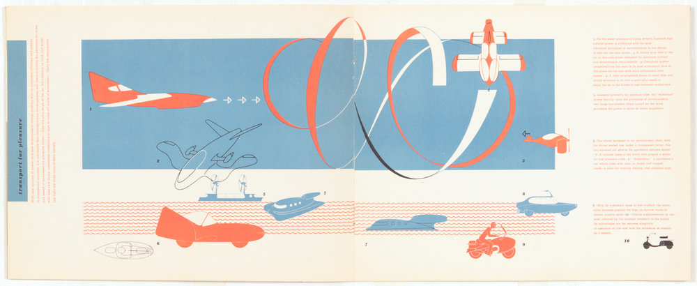 5. 1949, Transport, Next Half Century, Transport for Pleasure 1, Print on Paper, 8.5 x 21.75, pg 4,5.JPG