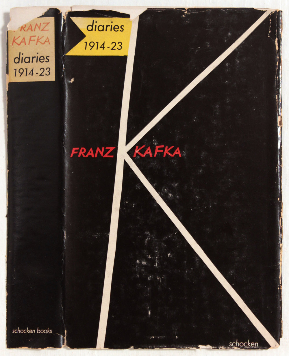 6. 1950's c, Diaries Franz Kafka, Book Cover, 8.25x4.50, PPS 1430.JPG