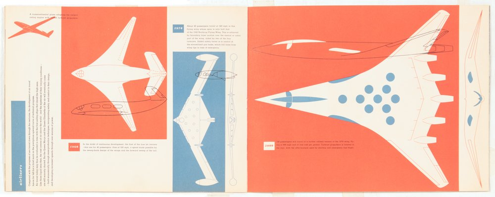 4. 1949, Transport, Next Half Century, Airliners 1, Print on Paper, 8.5 x 21.75, pg 8,9.jpg