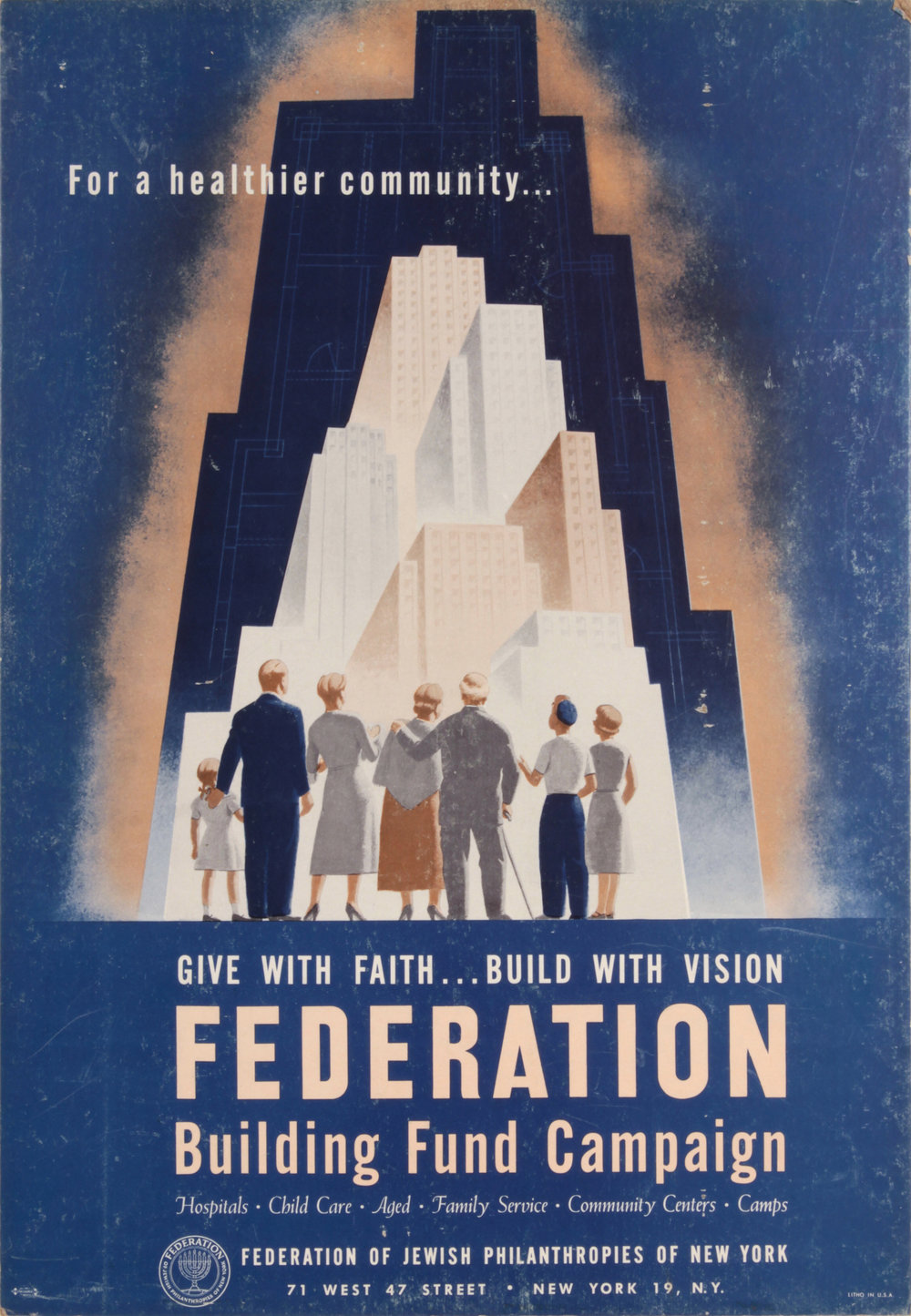 2. 1950, Federation of Jewish Philantropies of New York, Poster, 20x13.75, PPS 1490.JPG