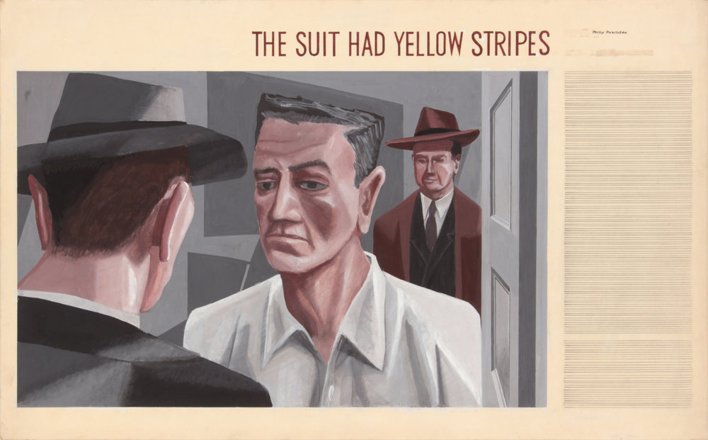 1. 1940's c, The Suit Had Yellow Stripes, Casein on Paper, 13.6875x22, PPS 1467.JPG