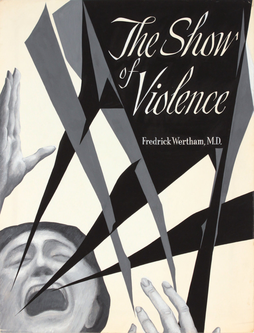 2. 1940's c, The Show of Violence (Study for Book Jacket), poster ink, 21x16, PPS 1383.JPG
