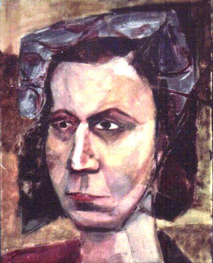 37. 1948, Portrait of Model, Casein on board, Dimensions unknown, 1948.jpg