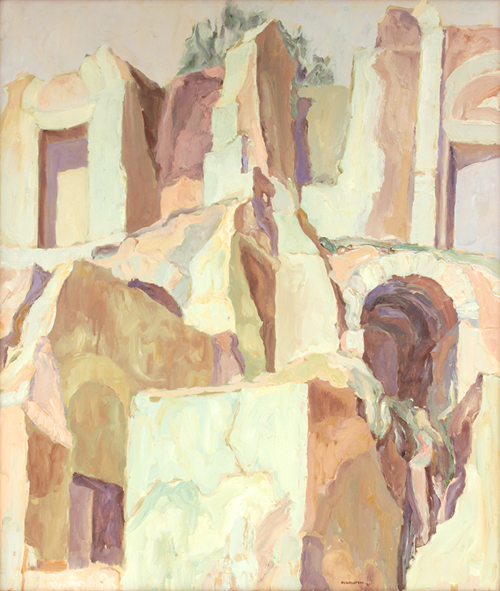 Roman Ruin , 1961 26 1/8 x 22 1/8 Oil on canvas