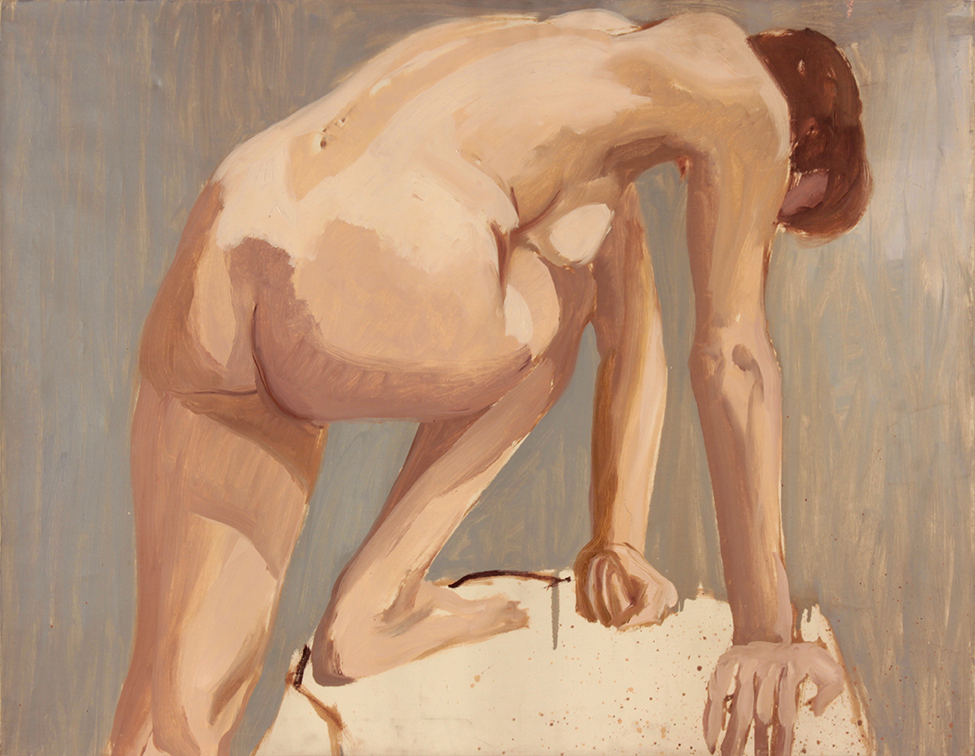 Nude Leaning, urned Away , 1963 Oil on Canvas 28 x 36 in