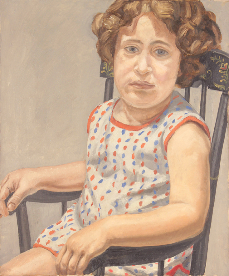 Portrait of Julia , 1965 Oil on Canvas 24.50 x 20 in  After Restoration