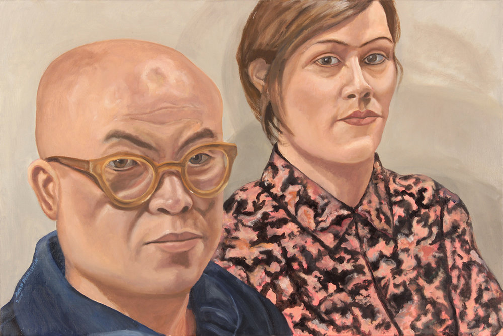 Portrait of Phong Bui and Nathlie Provosty , 2016 Oil on Canvas 20 x 30 in