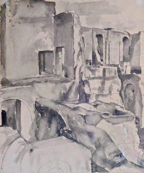 Study for Imperial Palace #8 , 1958 Drawing