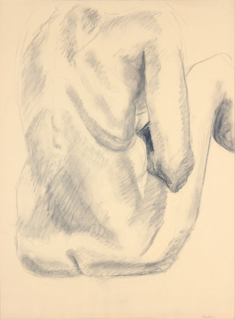 ND, Back of Female Model with Legs Raised, Graphite, 24x17.75, PPS 976.JPG