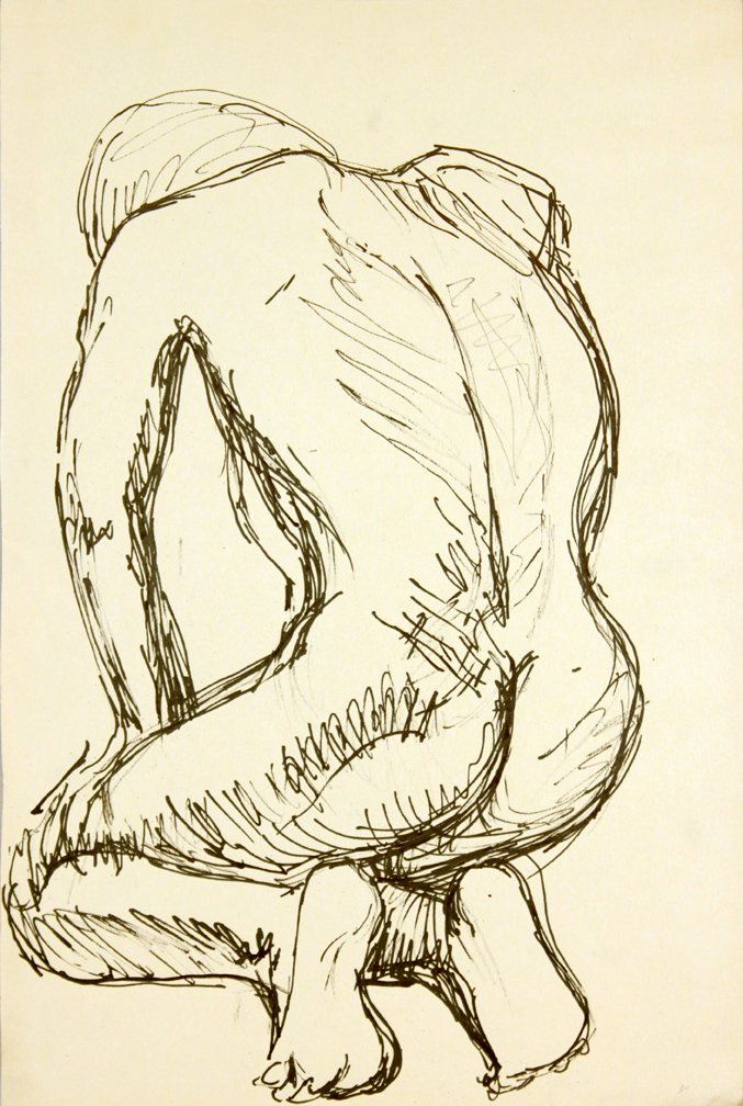 ND, Back of Kneeling Model, Ink, 17.875x12, PPS 946.JPG