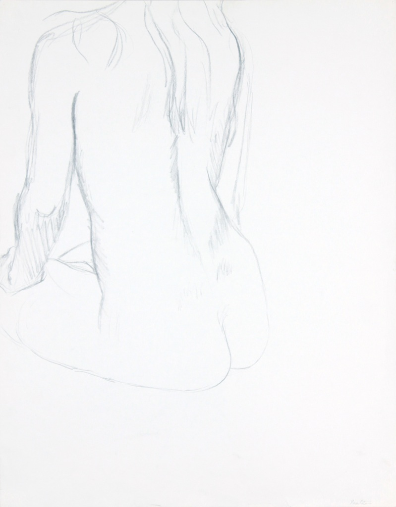 ND, Back of Seated Female Model, Graphite, 23.875x18.75, PPS 974 .JPG