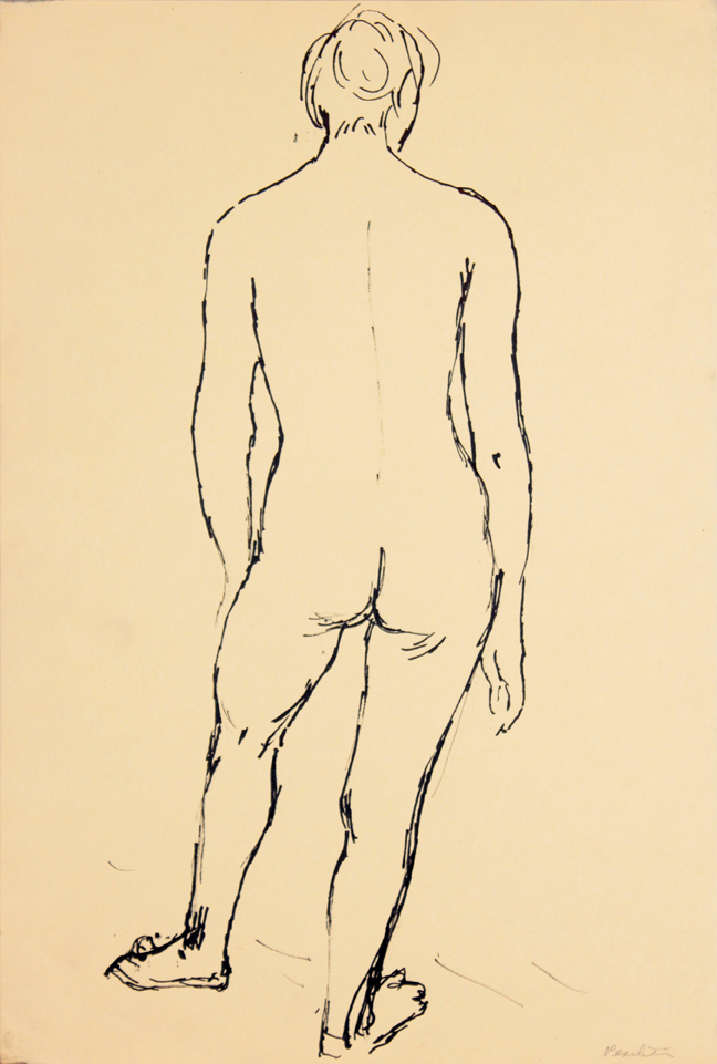 ND, Back of Standing Female Model, Ink, 17.875x12, PPS 938.jpg