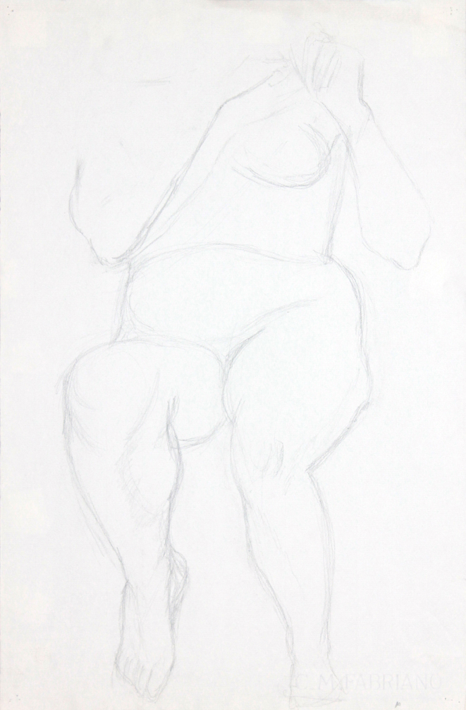 ND, Female Model Holding Hair #2, Graphite, 19x12.25, PPS 943.jpg