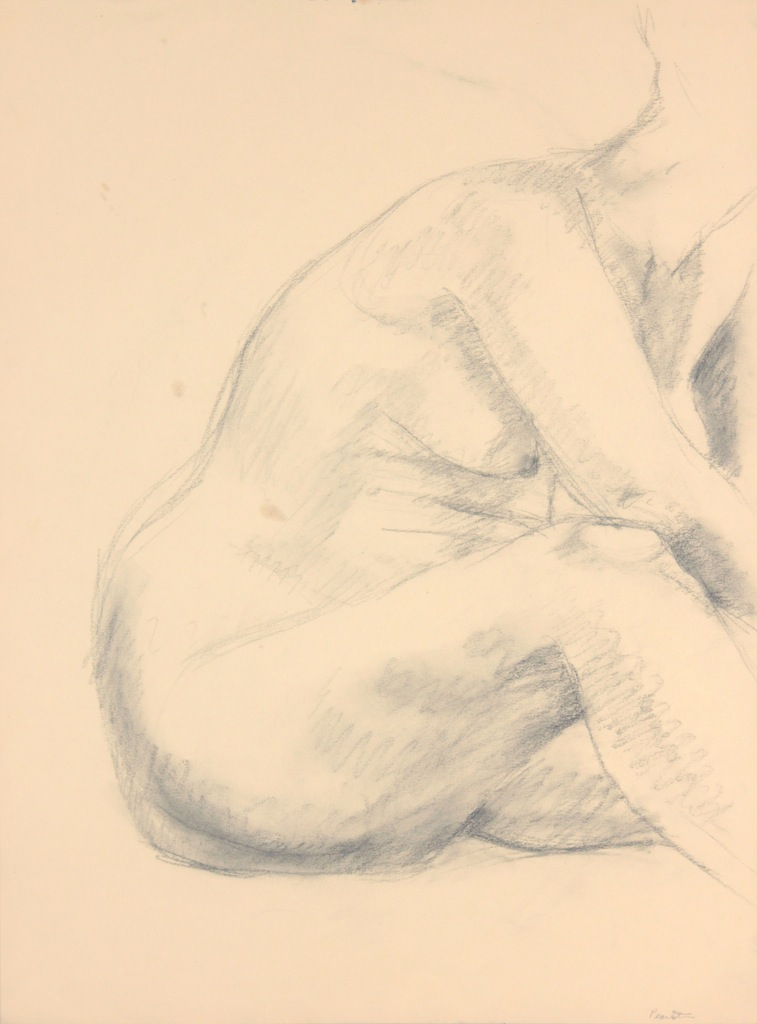 ND, Female Model Leaning Forward, Graphite, 24x17.875, PPS 967.JPG