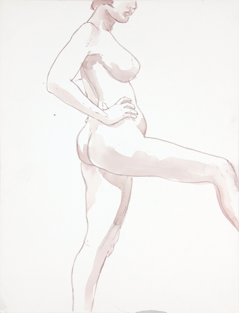 ND, Female Model with Leg Extended, Wash, 22.875x17.375, PPS 960.JPG