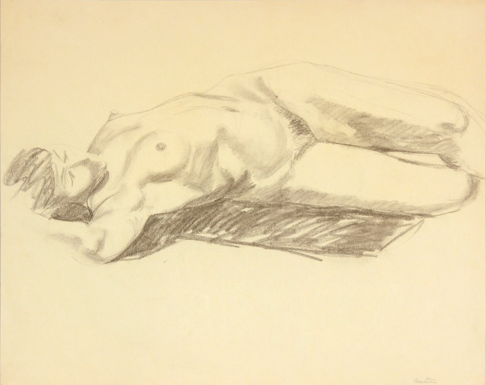 ND, Reclined Model with Arm Over Head, Graphite, 19x24, PPS 975.JPG