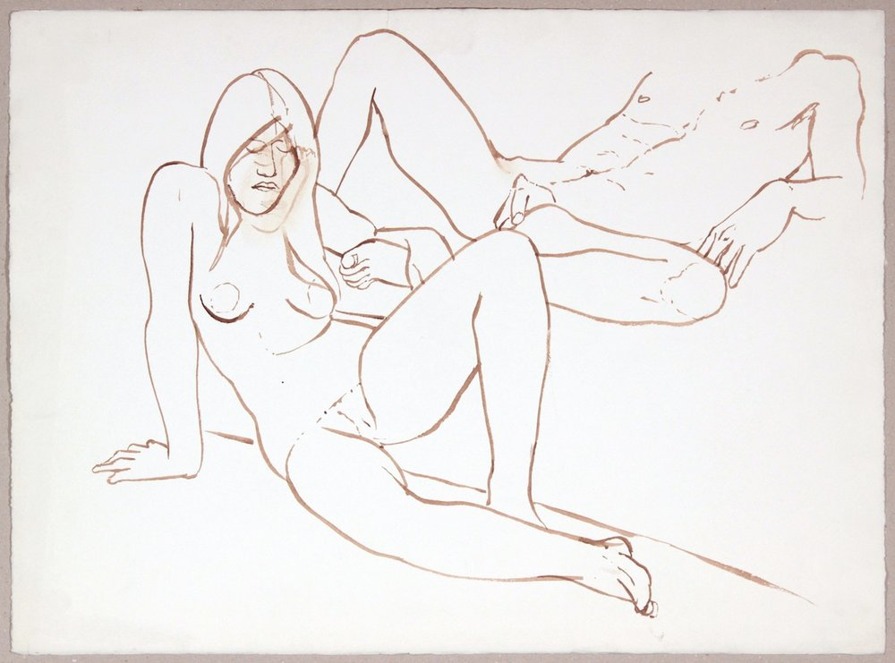 ND, Reclining Female and Male Nudes, Wash, 22.375x30, PPS 997.JPG