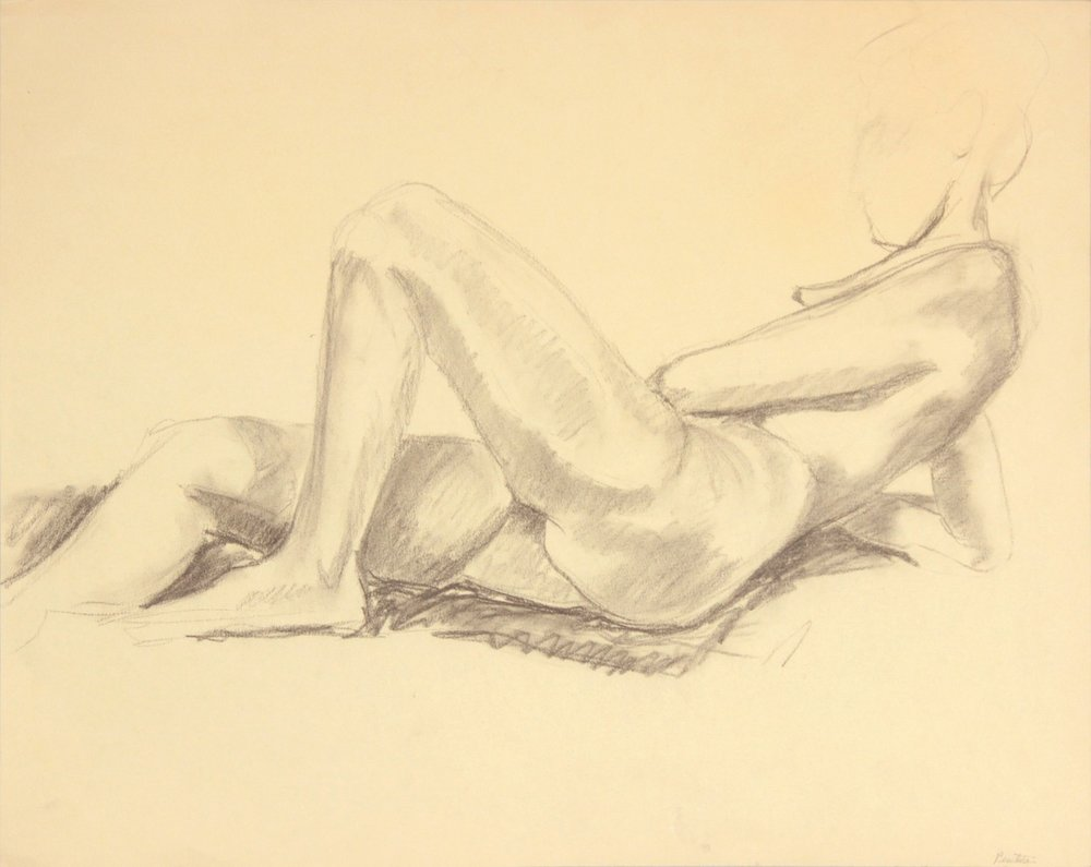 ND, Reclining Female Nude, Graphite, 19x24, PPS 972.JPG