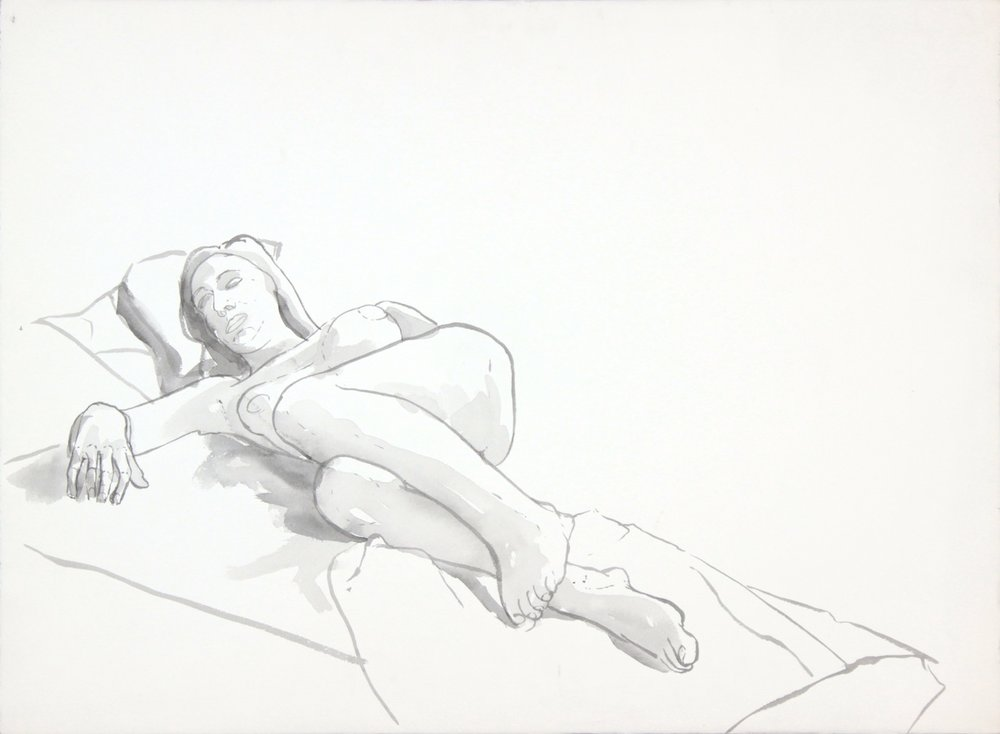 ND, Reclining Female with Leg Bent, Wash, 22x29.875, PPS 994.JPG