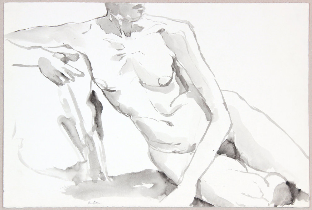 ND, Leaning Female Nude, Wash, 13.75x20.625, PPS 952.JPG