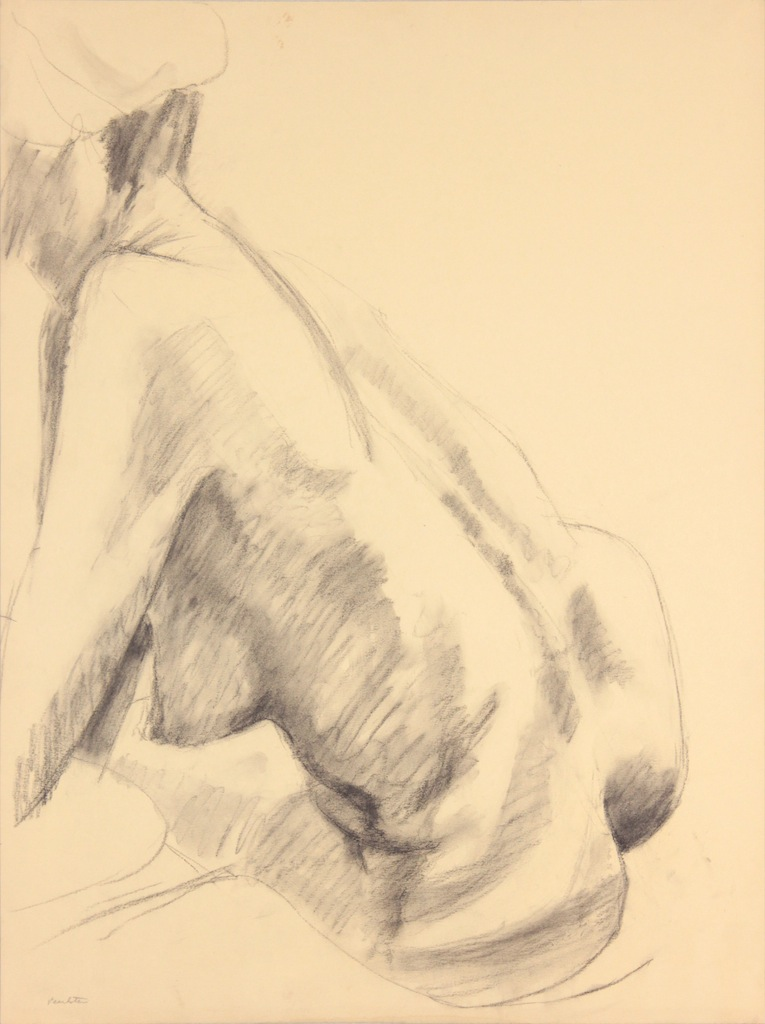 ND, Seated Female Model Twisted, Graphite, 24x17.75, PPS 964.JPG