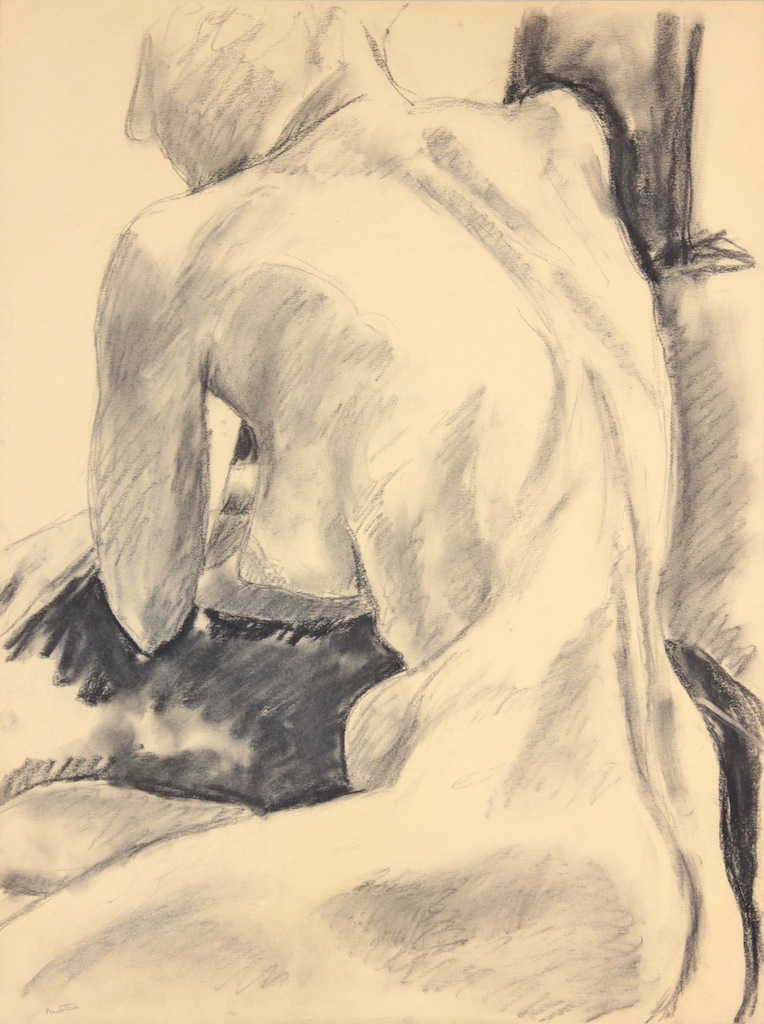 ND, Seated Female Model, Graphite, 24x17.875, PPS 966.JPG