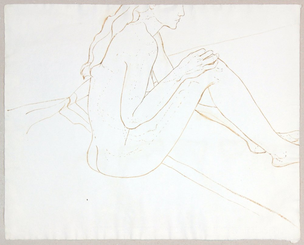ND, Seated Female Nude, Wash, 19x23.875, PPS 963.JPG