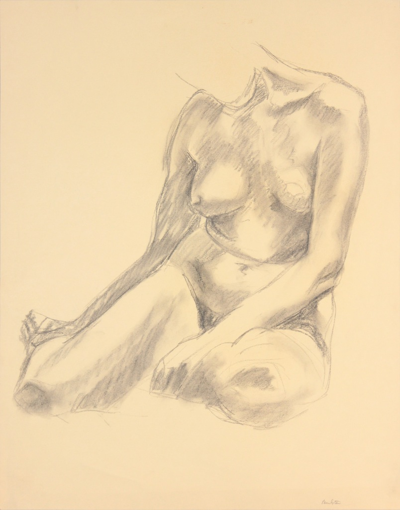 ND, Seated Model with Legs Bent Backwards, Graphite, 24x19, PPS 962.JPG