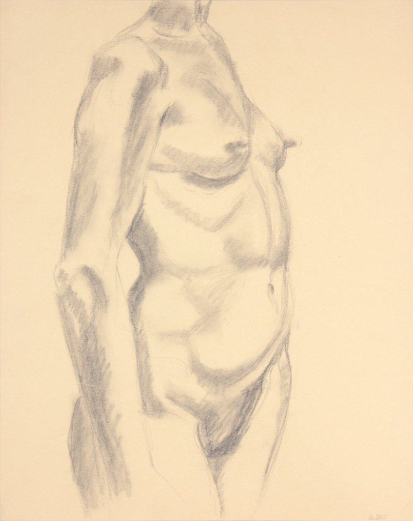 ND, Standing Female Nude, Graphite, 24x19, PPS 977.JPG
