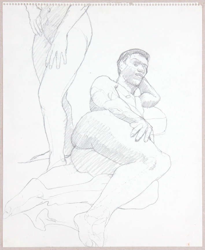 ND, Standing Female, Reclining Male, Graphite, 17x14, PPS 934.jpg