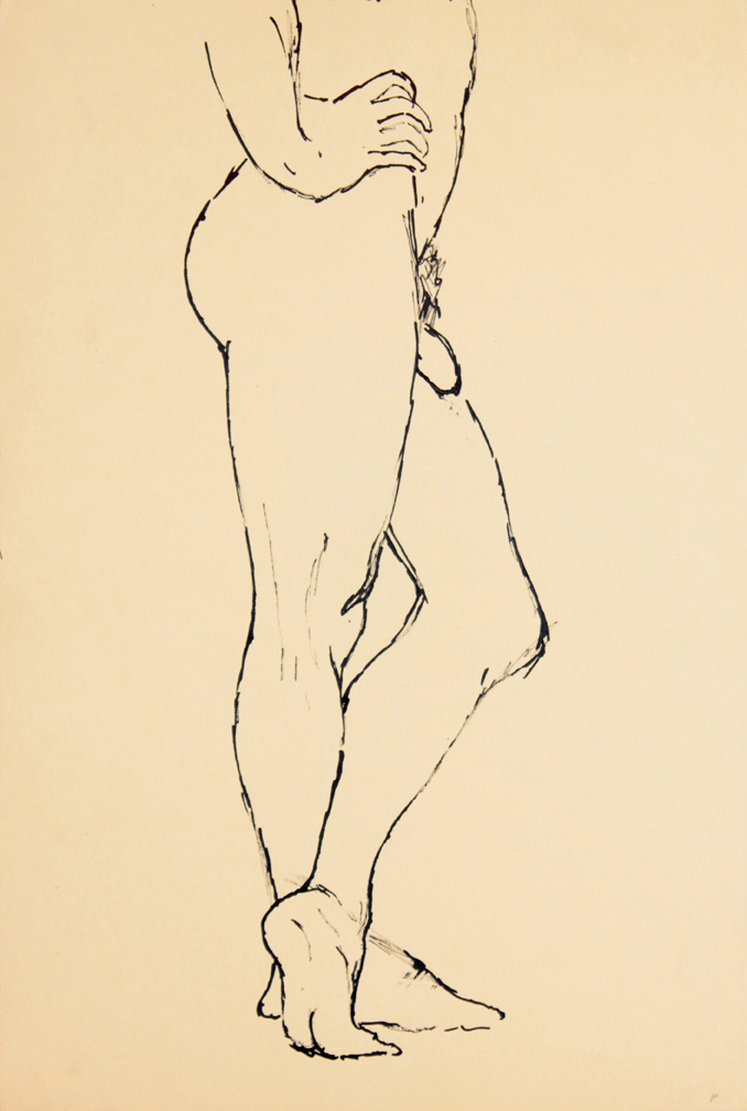 ND, Standing Male Model with Legs Crossed, Ink, 17.875x12, PPS 937.jpg