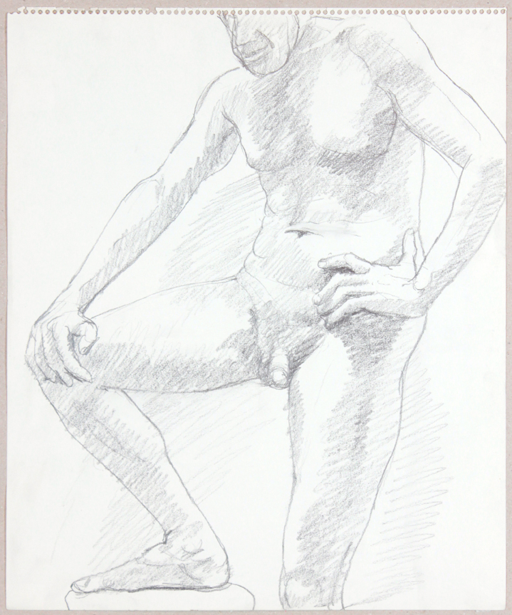 ND, Standing Male with Foot Resting on Stool, Graphite, 17x14, PPS 935.jpg