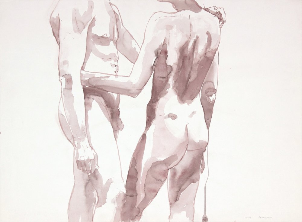 ND, Two Nudes Facing Each Other, sepia, 22x29.875, PPS 998.JPG