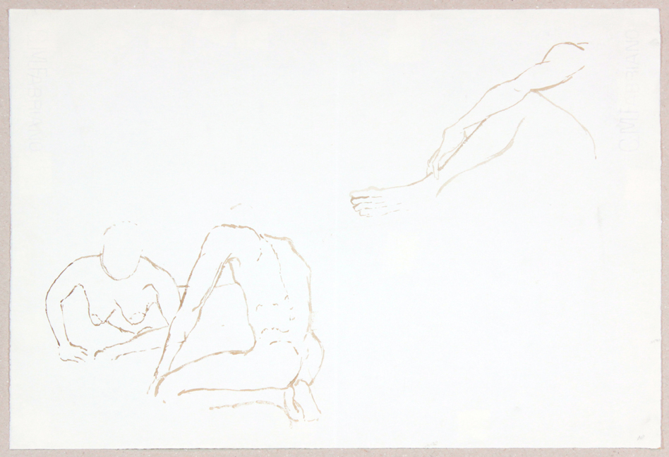 ND, Two Models on Floor and Leg and Arm, Ink, 13x18.75, PPS 944.JPG