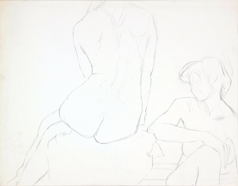 ND, Two Seated Female Models, Graphite, 18.75x23.875, PPS 984.JPG