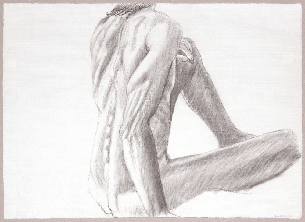 1986, Seated Male from Back, Graphite, 19.125x26.25, PPS 986.JPG