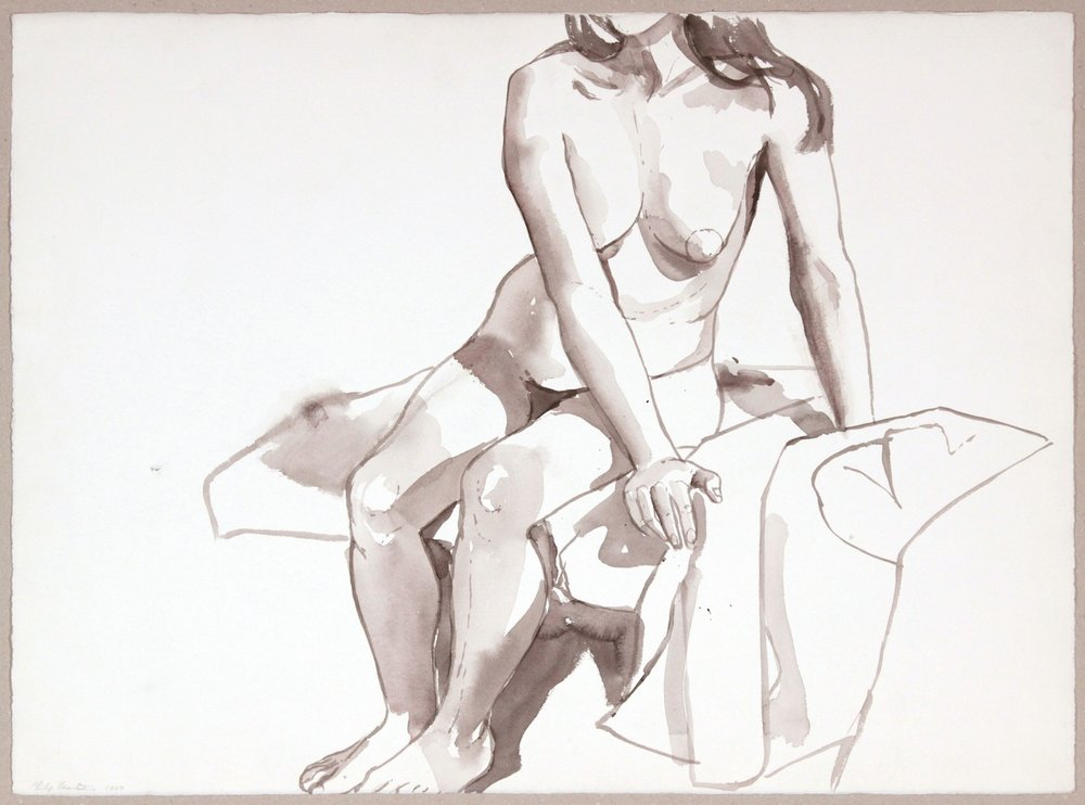 1967, Seated Nude with Arms to the Side, Wash, 22.125x29.875, PPS 1000.JPG