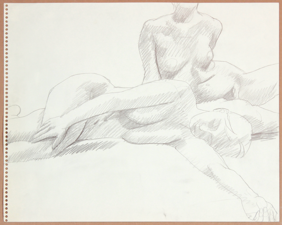 1964-65, Two Female Models, One Reclined, Graphite, 13.75x17, PPS 929.jpg