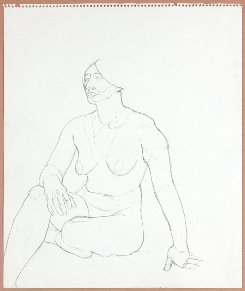 1964-65, Seated Female Nude, Graphite, 17x14, PPS 930.jpg