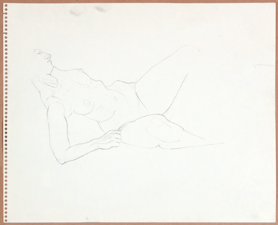 1964-65, Reclining Female Model (Partial), Graphite, 13.75x17, col. Veneska Kluck, PPS 925.jpg
