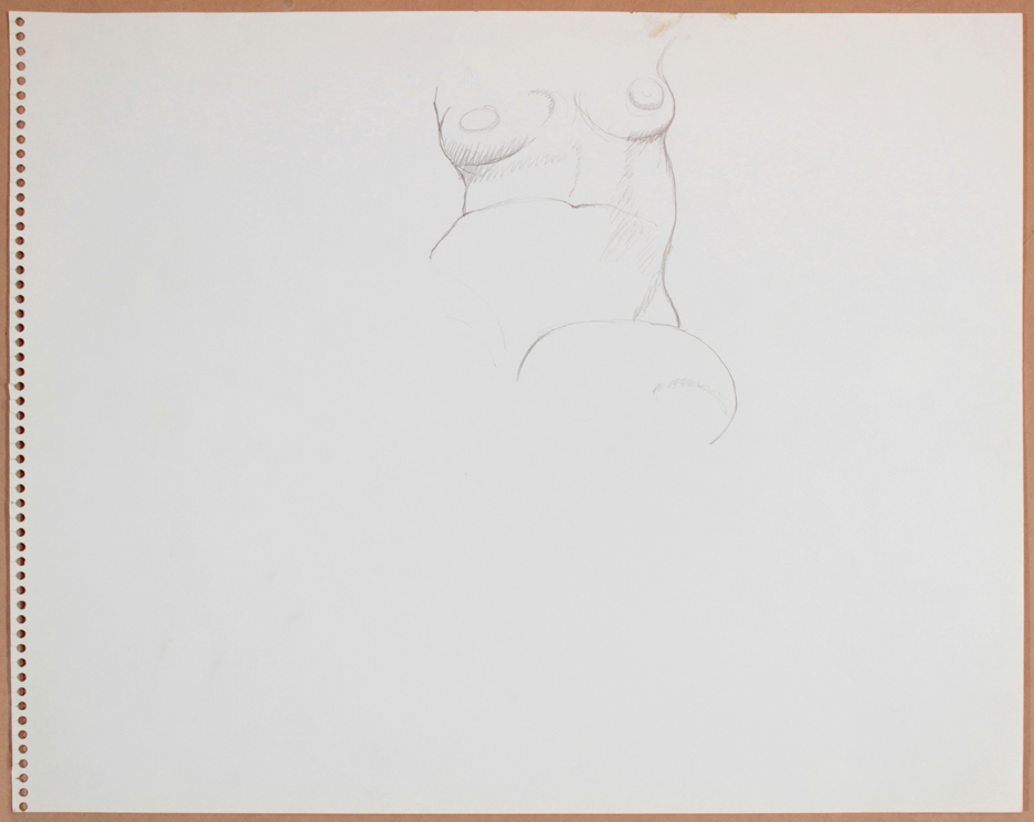 1964-65, Female Model (Partial), Graphite, 13.75x17, col. Betty Cuningham, PPS 926.jpg