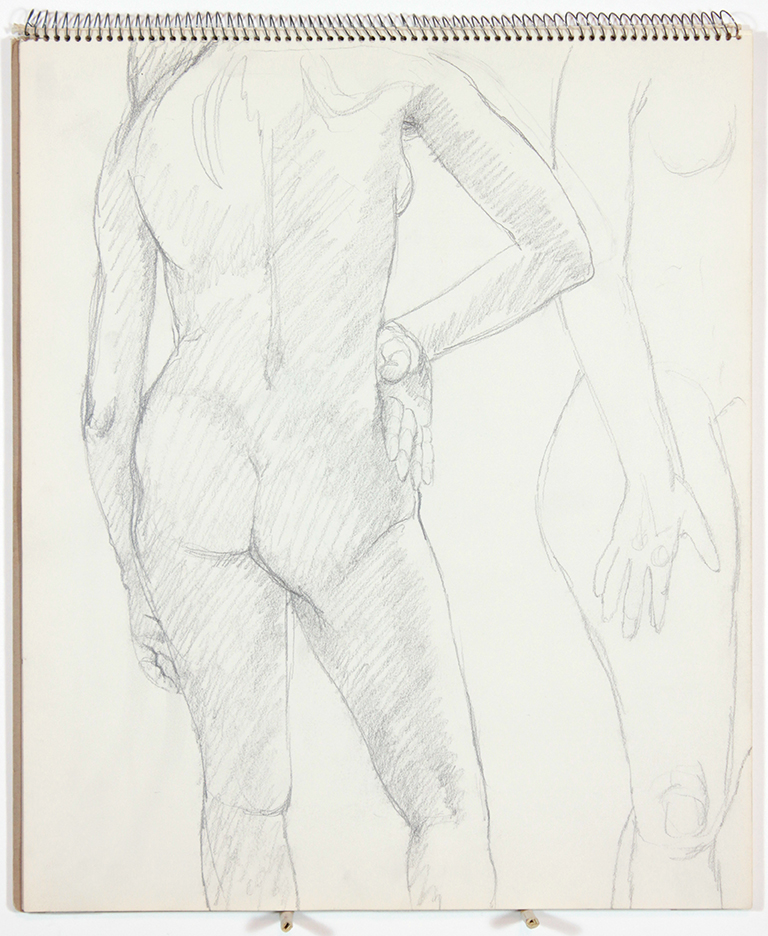 1963, Untitled, Graphite, 14x17, SB#7, PPS 1062.jpg